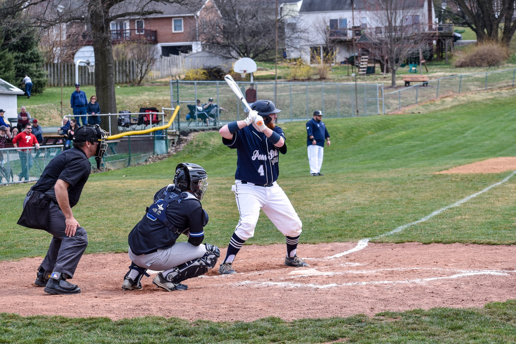 Brady Lefever hit a solo home run in the 12-2 victory for Penn State York.