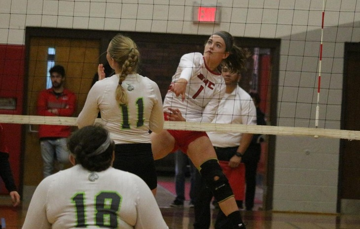 Women's Volleyball Bests Lesley & Fisher Saturday