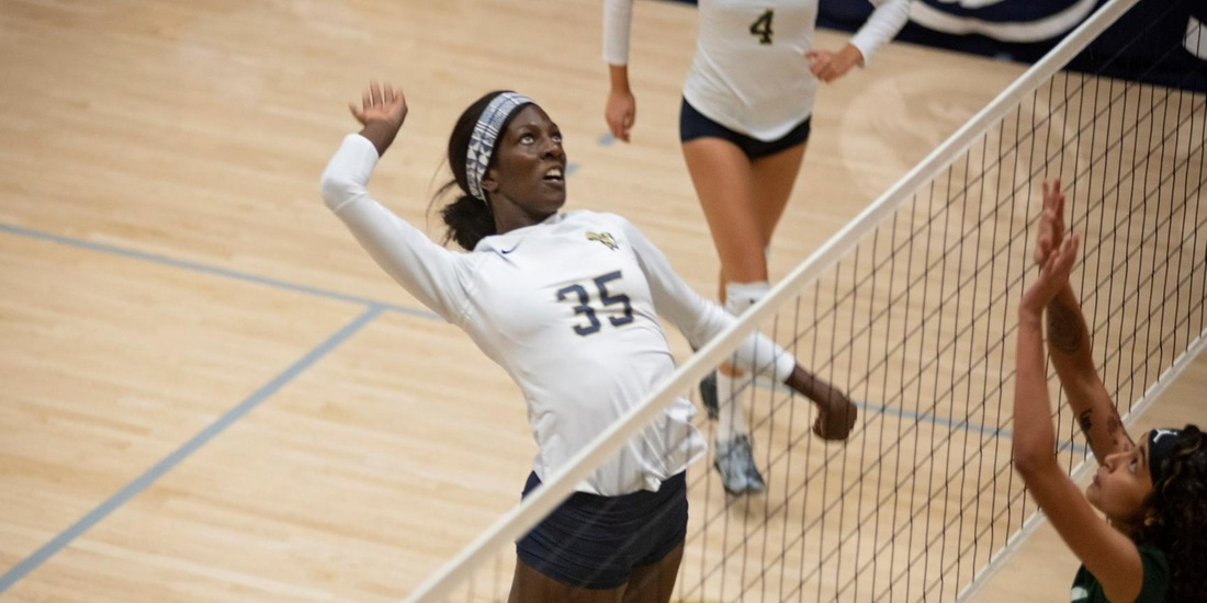 Volleyball Makes History, Sweeps Lasell to Advance to GNAC Semis