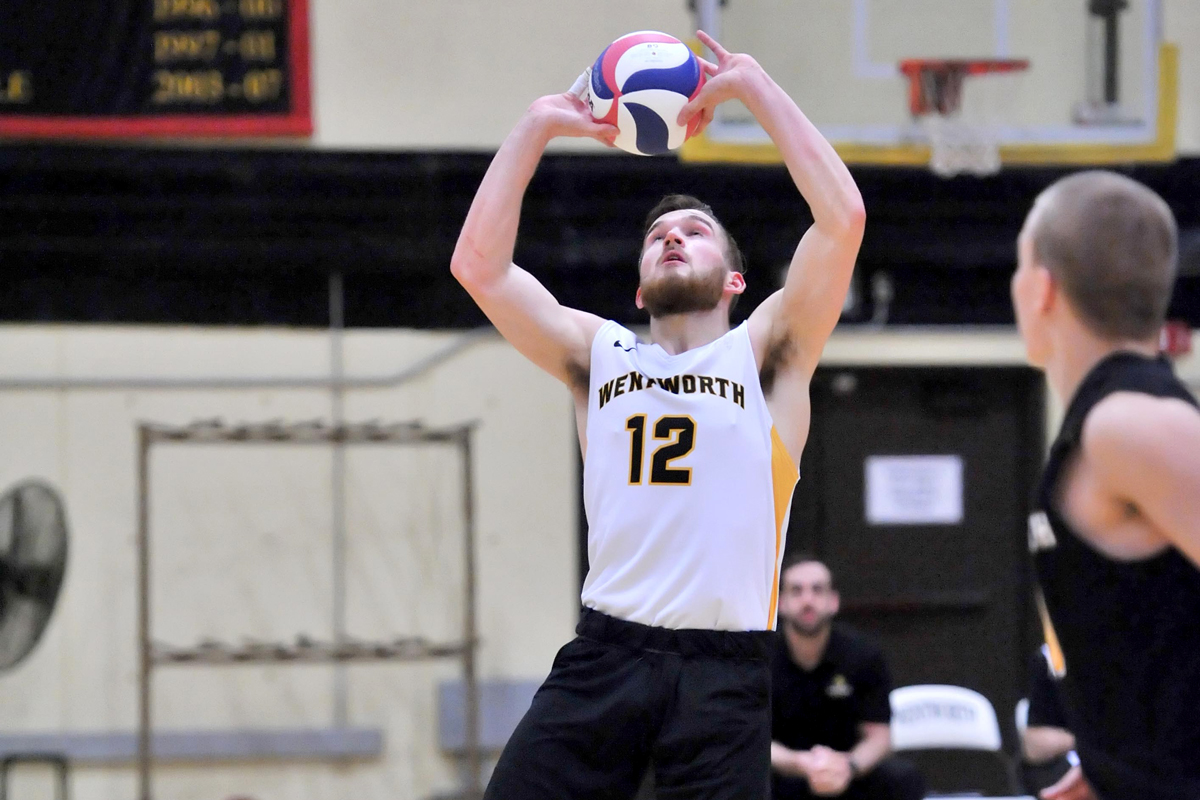 Men's Volleyball Splits with Lancaster Bible, Wells