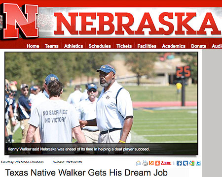 GU's Kenny Walker featured in alma mater story by University of Nebraska