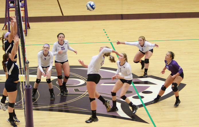 Women's volleyball sweeps past SUNY Plattsburgh during non-conference finale