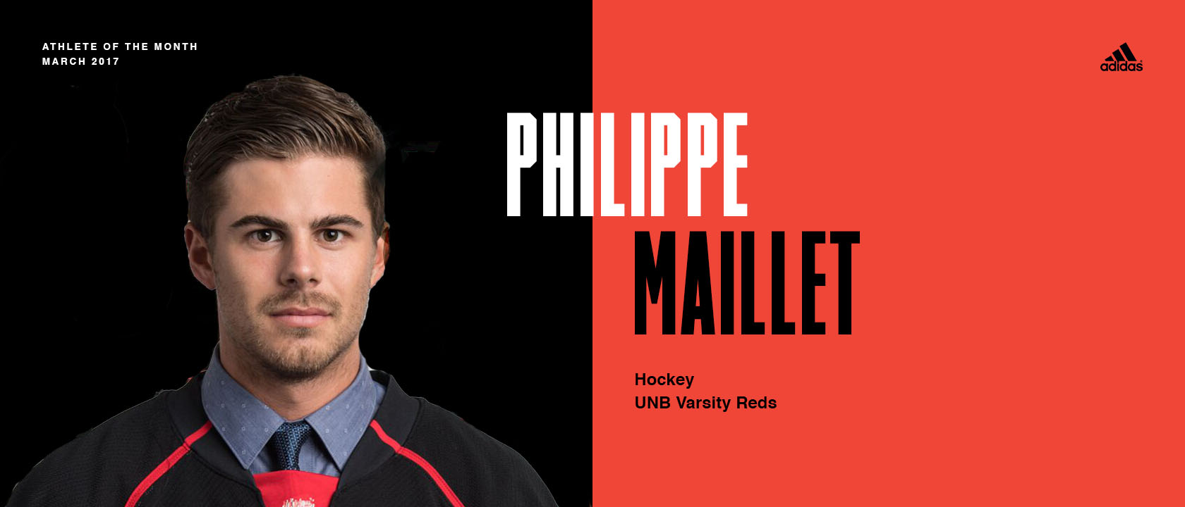 2017 U SPORTS Champions Series:  March Athlete of the Month Maillet's own March Madness ends with UNB's second straight national championship