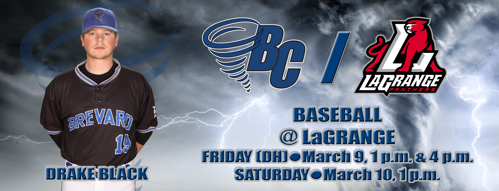 Brevard Travels to LaGrange for Three-Game Series
