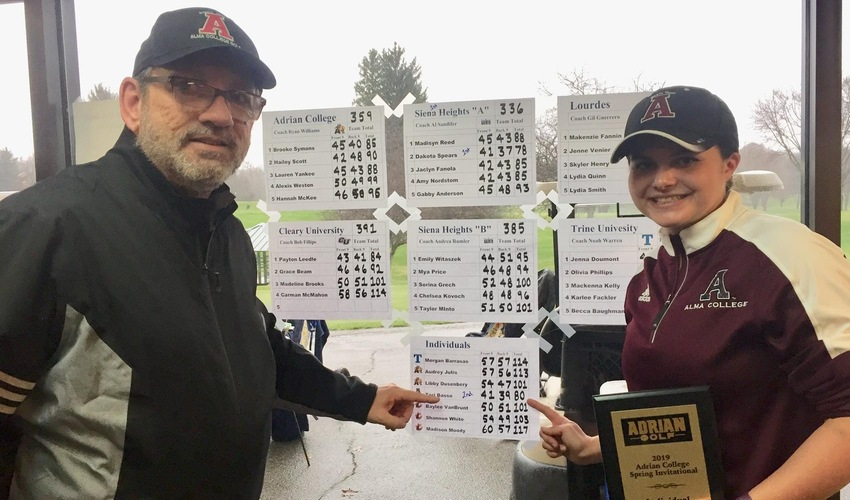 Basso Shoots 80 in her Final Collegiate Tournament