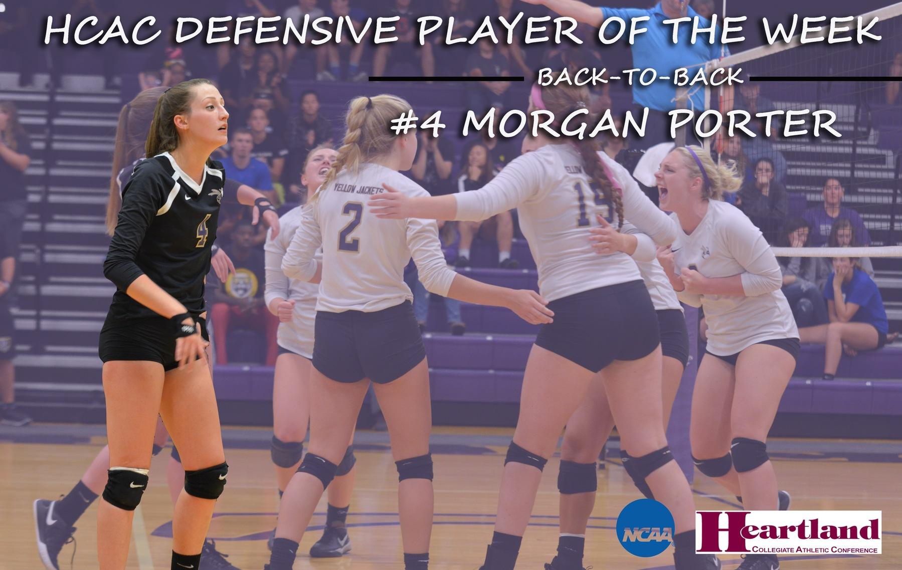 Porter Earns Back-To-Back HCAC Defensive Player of the Week Honors
