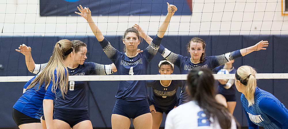 Bison volleyball team lose home opener to Marymount on AVCA night