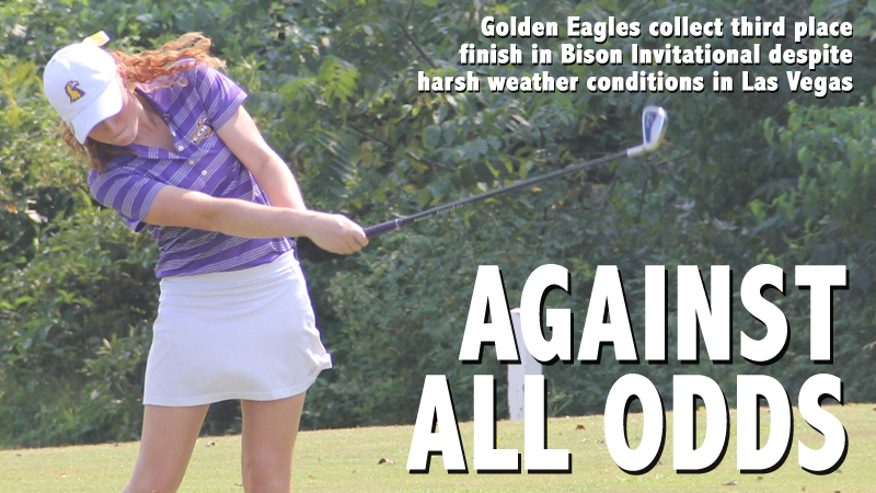 Golden Eagles overcome weather to take third in Bison Invitational