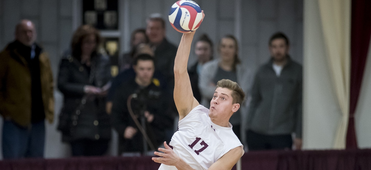 No. 1 Men's Volleyball Storms Past Arcadia and Lehman in Straight Sets