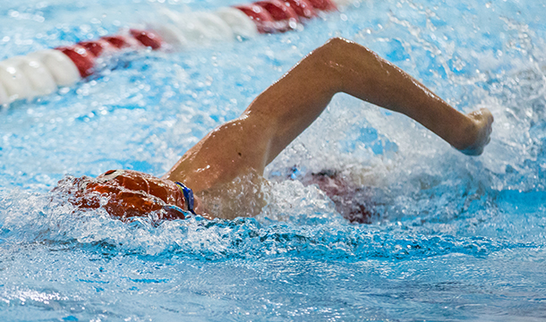 Men's Swimming Fourth At CCC Invitational