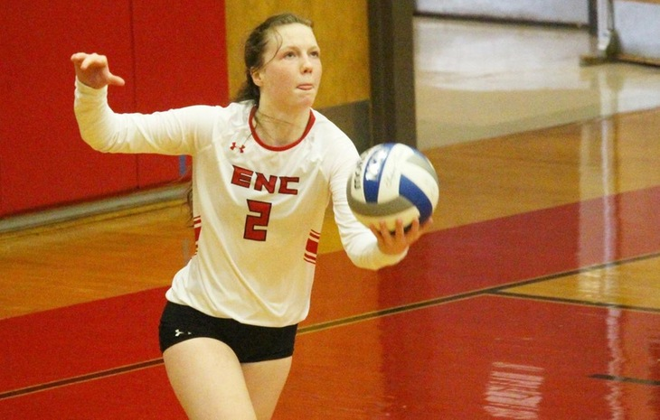 Women's Volleyball Blanks Bay Path in League-Opener
