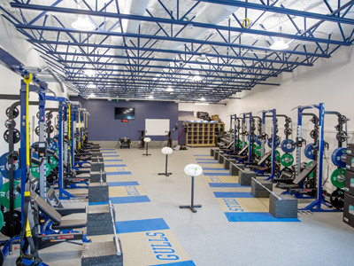 Overhead view of the Athletic Performance Center