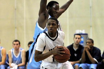 Hughes's late steal and free throws lead men's hoops past UMass Dartmouth, 71-69