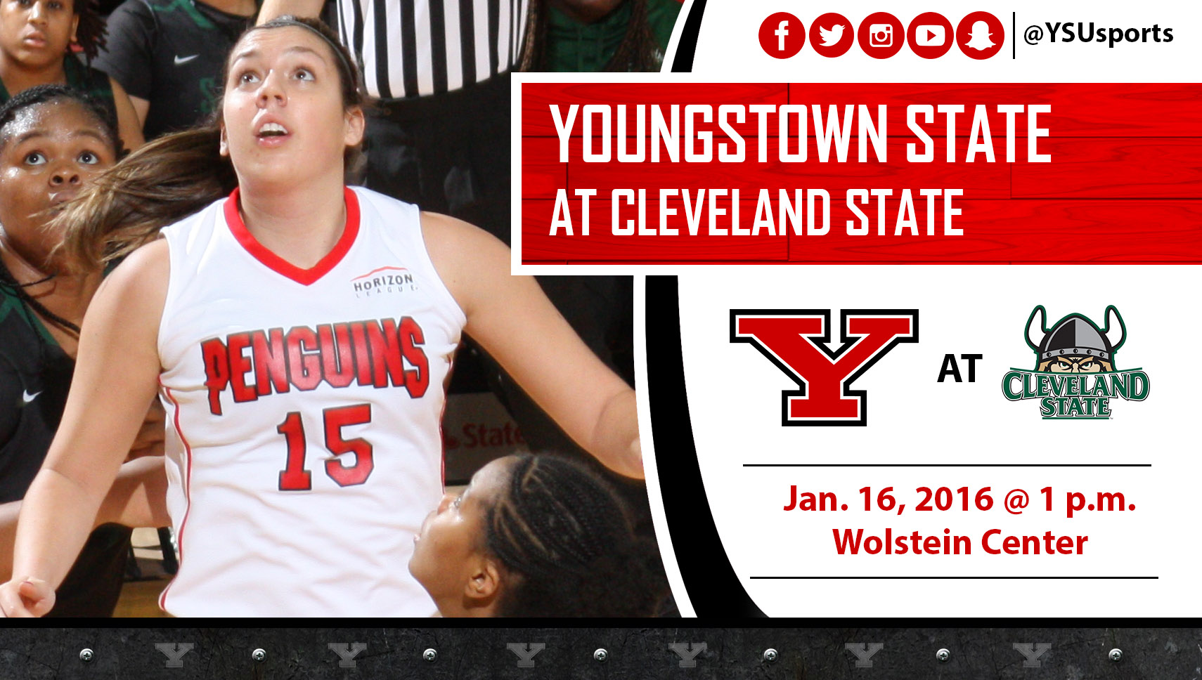 Freshman Marissa Brown and YSU will play at Cleveland State on Saturday.