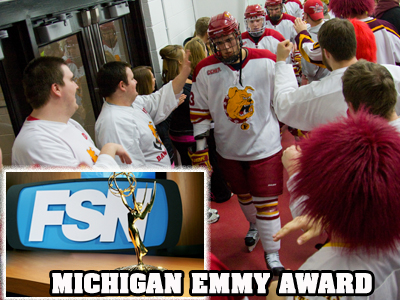 FOX Sports Detroit Receives Award Featuring Ferris State Hockey