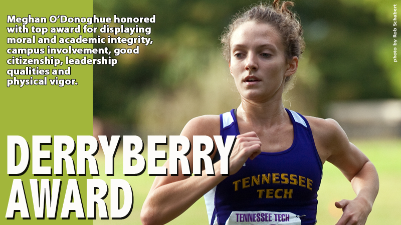Runner Meghan O'Donoghue shares 2014 Derryberry Award honors