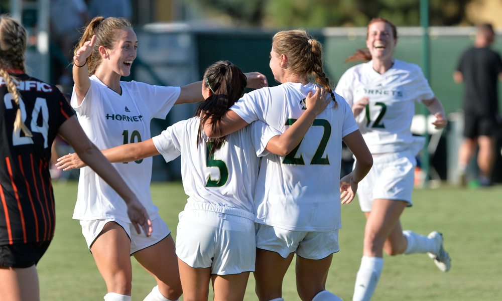 WOMEN'S SOCCER USES BIG SHOT ADVANTAGE IN 1-0 EXHIBITION WIN OVER PACIFIC