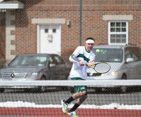 St. Joe's Tops Gators in Skyline men's tennis action