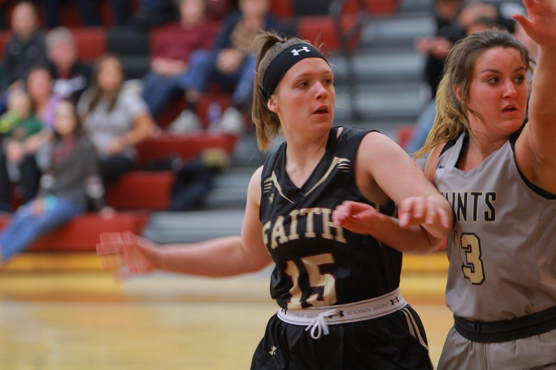 Michaela Crider led the Faith Eagles with 10 points against North Central in a 70-29 loss.