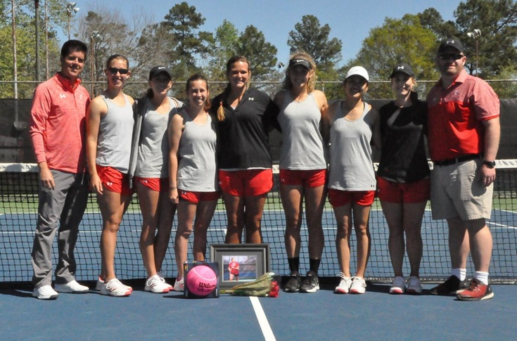 Women's Tennis: Senior Denney Meigs honored before Panthers' match with Covenant