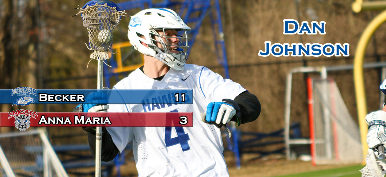Johnson Nets 200th Point As Men's Lacrosse Soars Over AMC