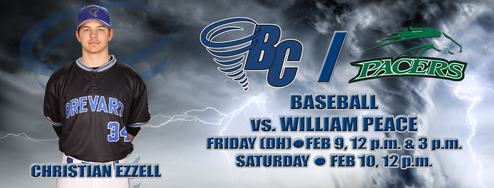 Tornados Host William Peace in Weekend Series