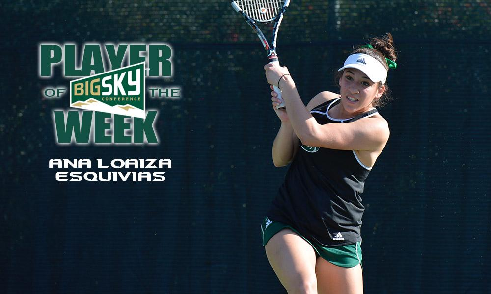 LOAIZA ESQUIVIAS EARNS THIRD BIG SKY PLAYER OF THE WEEK AWARD