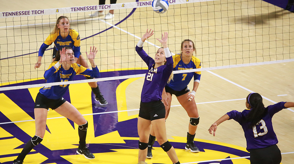 Tech volleyball drops another five-set slugfest to Eastern Kentucky