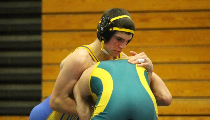 Wrestling action vs. Brockport