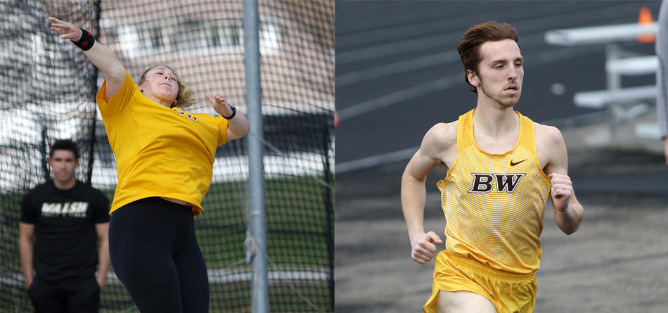 Junior All-OAC thrower Brook Buckhannon and sophomore distance runner Spencer Roberts (Photos courtesy of Ed Hall Jr.)