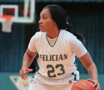 Junior guard Jac'Quel Saunders picked up her first career double-double in a Jan. 21, 2013, loss at Dominican.