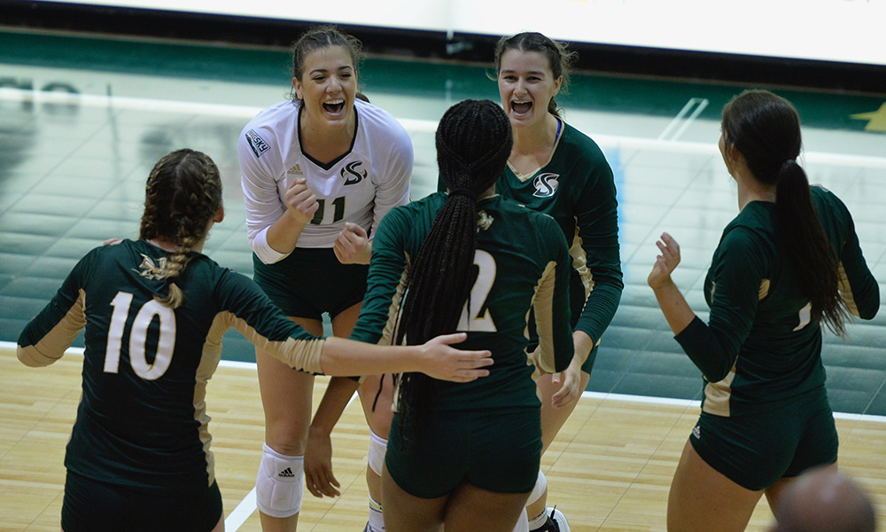 TWO WEEKS LEFT IN THE REGULAR SEASON, VOLLEYBALL (10-4) TO PLAY A PAIR ON THE ROAD THIS WEEK