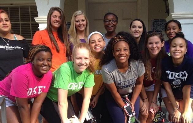 Coker Spirit Squad Assists in Bike MS Event