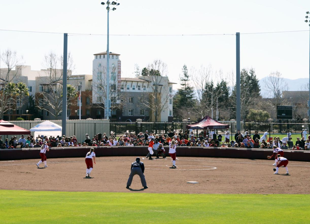 SCU Softball Field 'Opening Day' (Feb. 9, 2013) - Don Jedlovec Photo