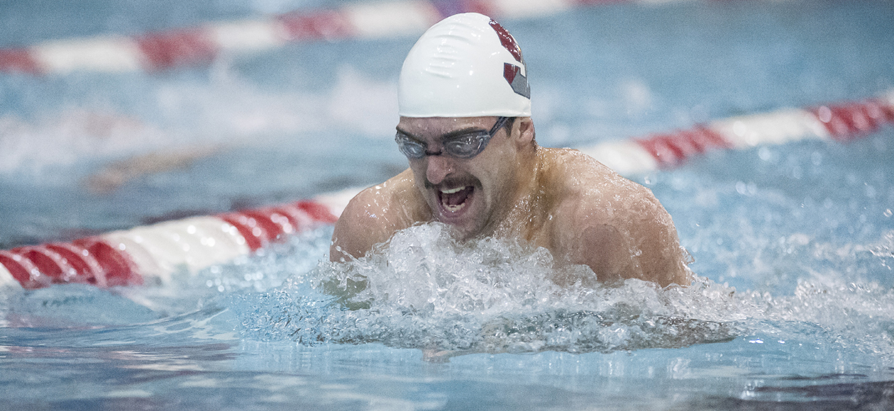 Men's Swimming and Diving Edged by Babson, 151-146