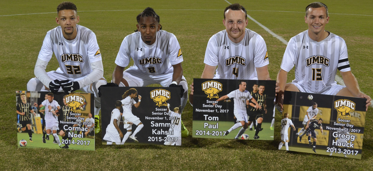 UMBC Men's Soccer Falls to Stony Brook, 2-0 on Wednesday; Clinches Five Seed in #AEMSOC Tournament