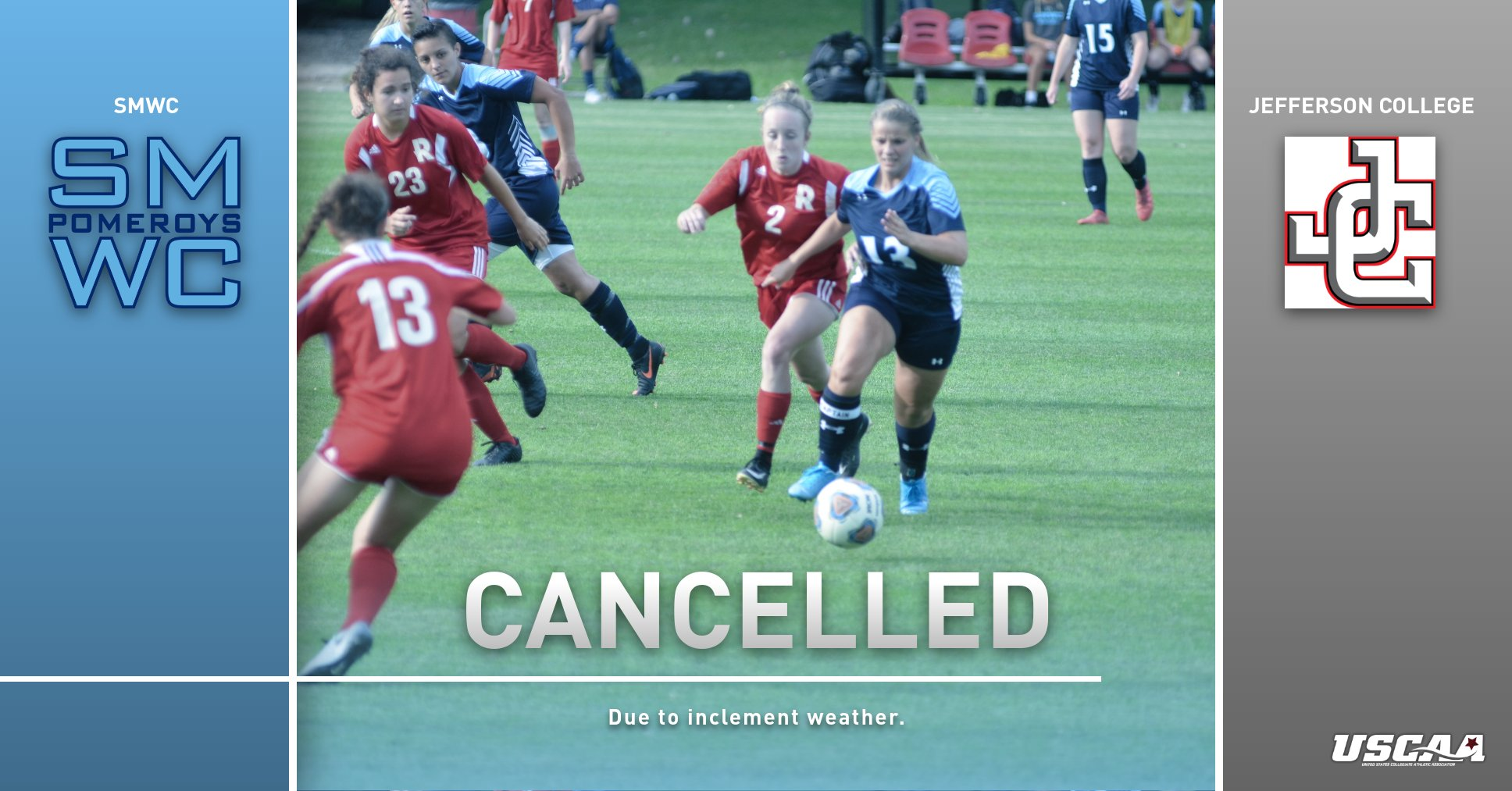 Women's Soccer Match Against Jefferson College Cancelled Due to Inclement Weather