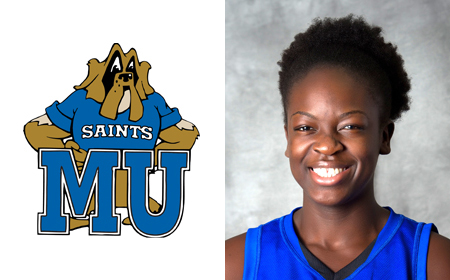INTRODUCING ... Marymount University Senior Women's Basketball Standout Maame Amponsah