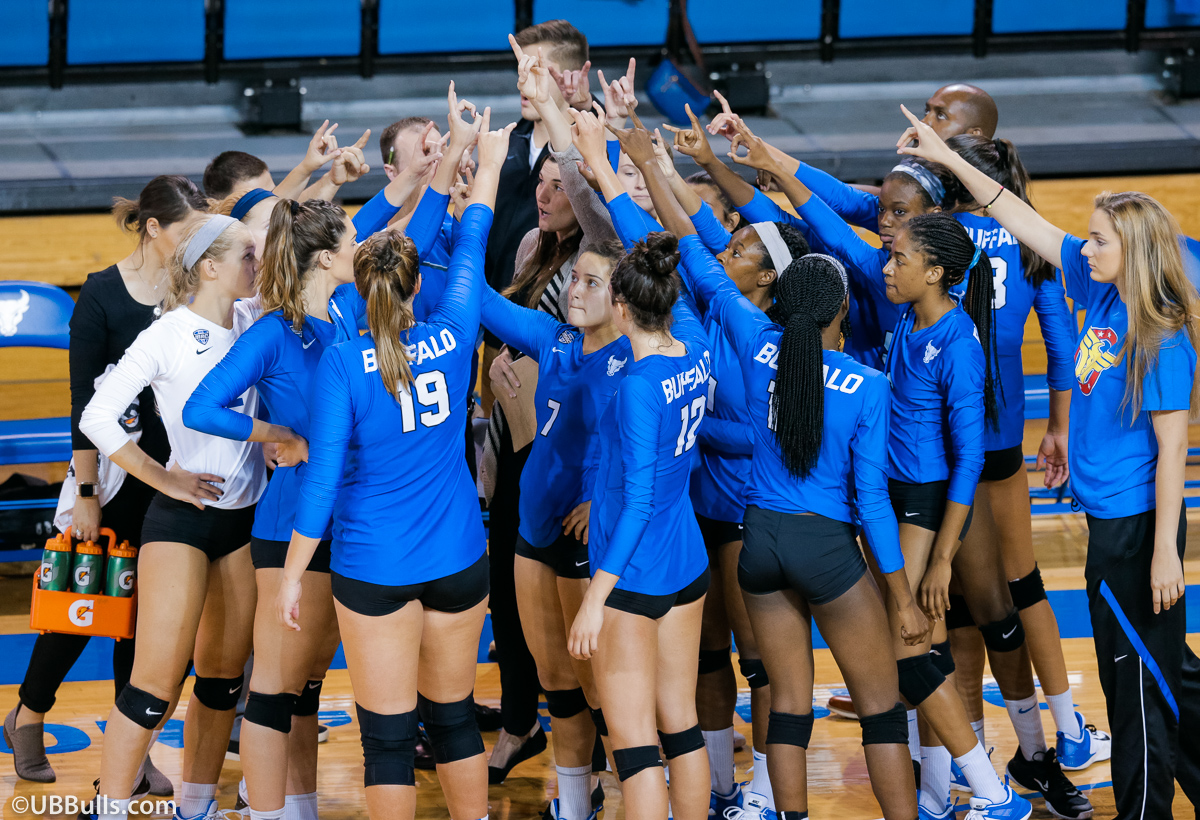 UB Volleyball Huddle