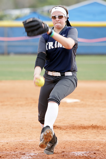 Danielle Ray, Trine, Softball Pitcher of the Week 3/20/17