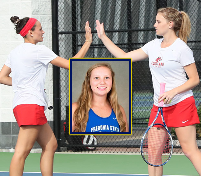 SUNYAC selects Singles and Doubles Tennis Athletes of the Week