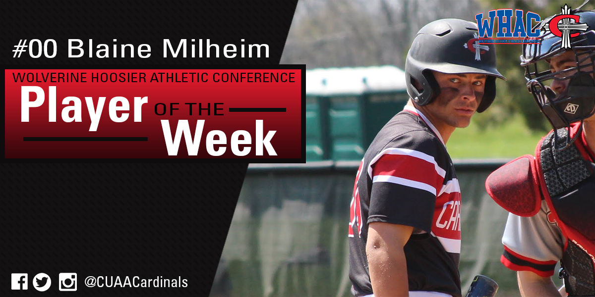Photo for Big series lands Milheim WHAC Player of the Week honors