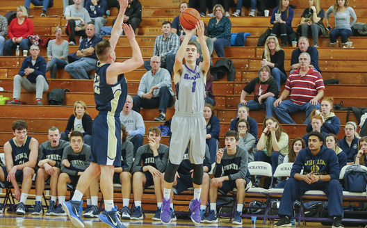 Ethan Danzig went 9-for-14 from 3-point range on Monday night at Cabrini.