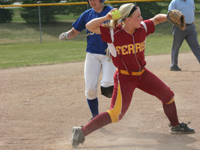 Makenzi Peterson went three-for-four at the plate and scored two runs in FSU's decisive game-two victory at Northwood.