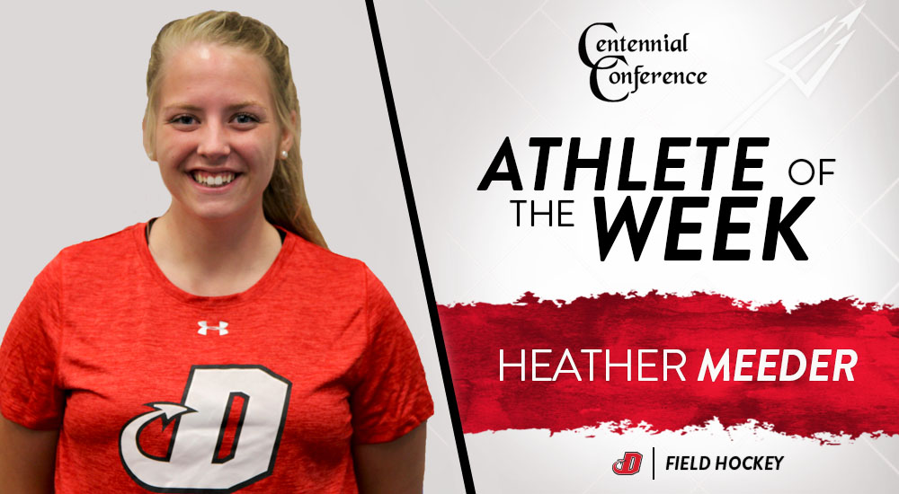 Meeder Named CCFH Defensive Player of the Week