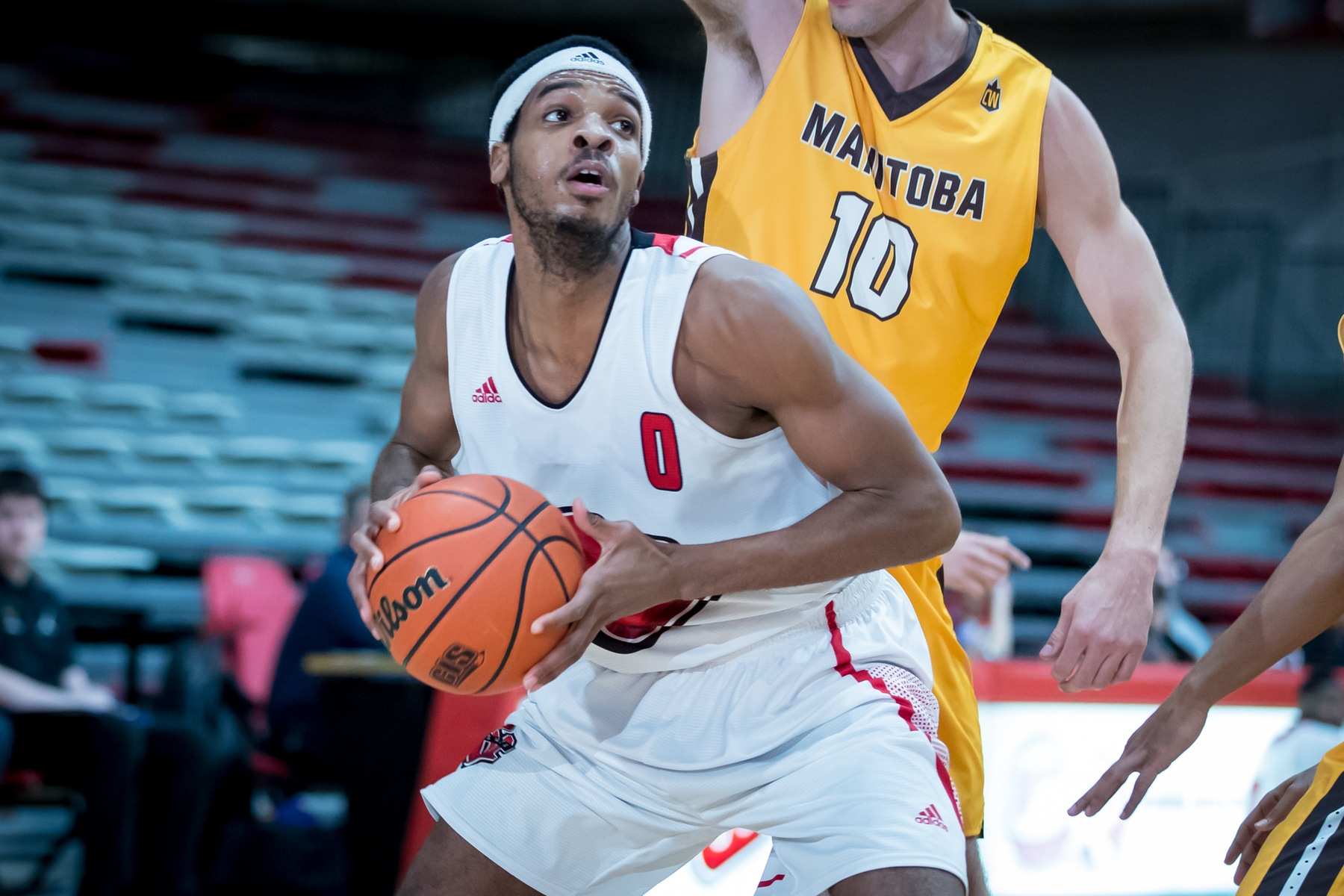 Sean Tarver had a double-double Saturday night as the Wesmen defeated the Mayville State Comets. (Kelly Morton/Wesmen Athletics file)