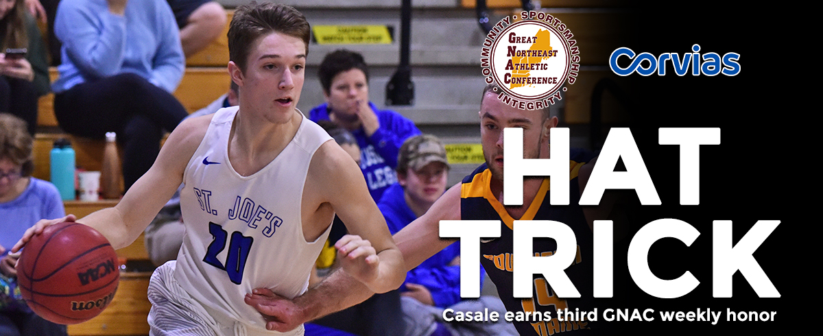 Casale Claims Third GNAC Rookie of the Week Award