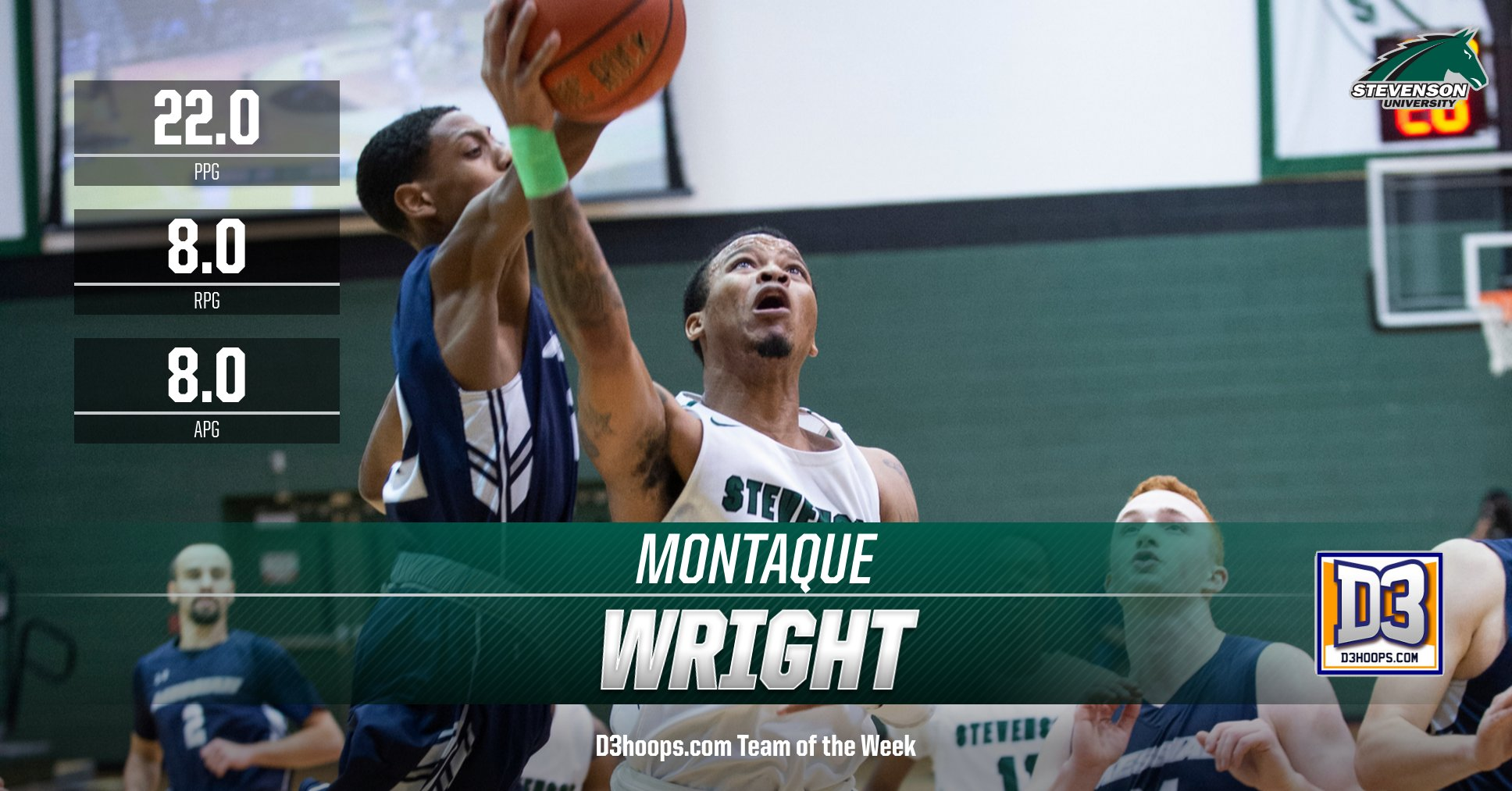 Montaque Wright Named to D3hoops.com Team of the Week