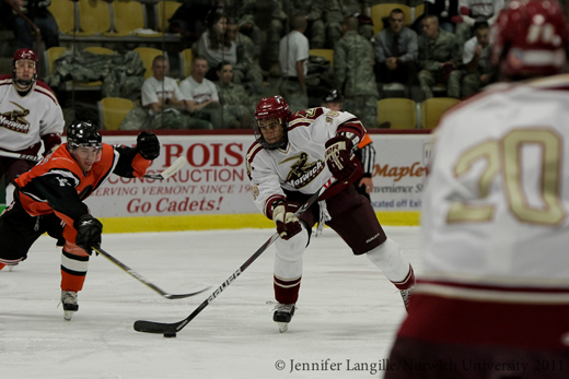 Men's Hockey: Cadets open 2011-12 campaign with 7-4 win over University of New England