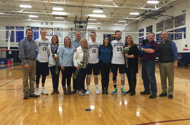 Men's Volleyball: Raiders fall to Lasell on Senior Night